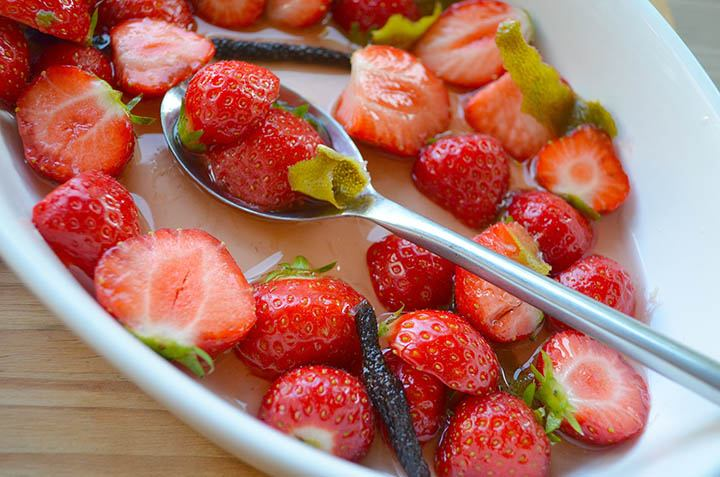 Strawberries in Pepper Syrup