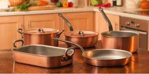 best cookware for glass top stoves - lined copper cookware