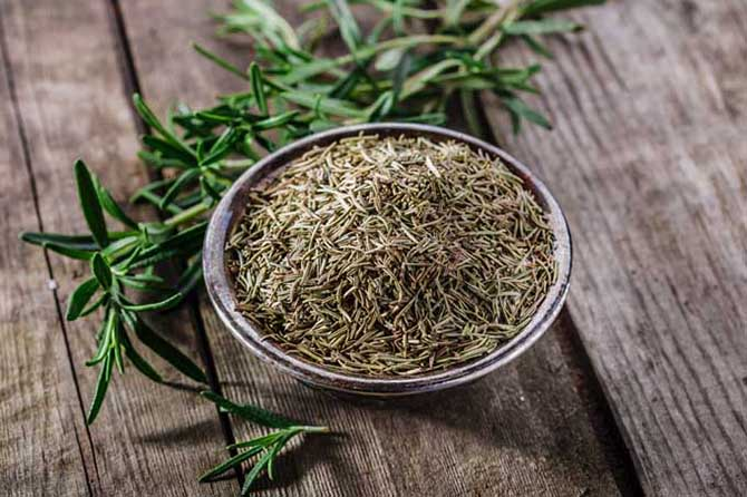 dried fresh rosemary