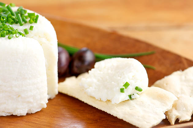 homemade goat cheese