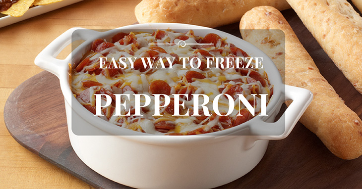 can you freeze pepperoni