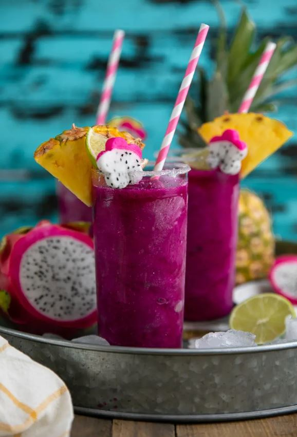 Dragon Fruit Margaritas