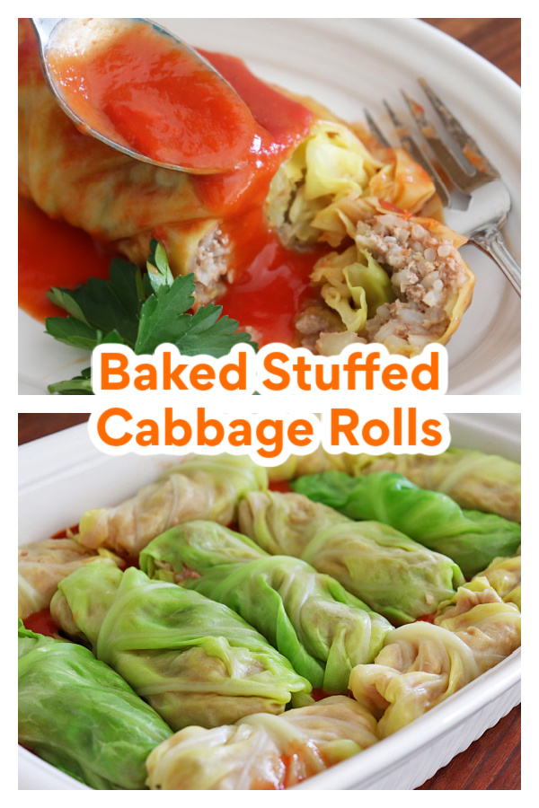 PIN for Baked Stuffed Cabbage Rolls Recipe