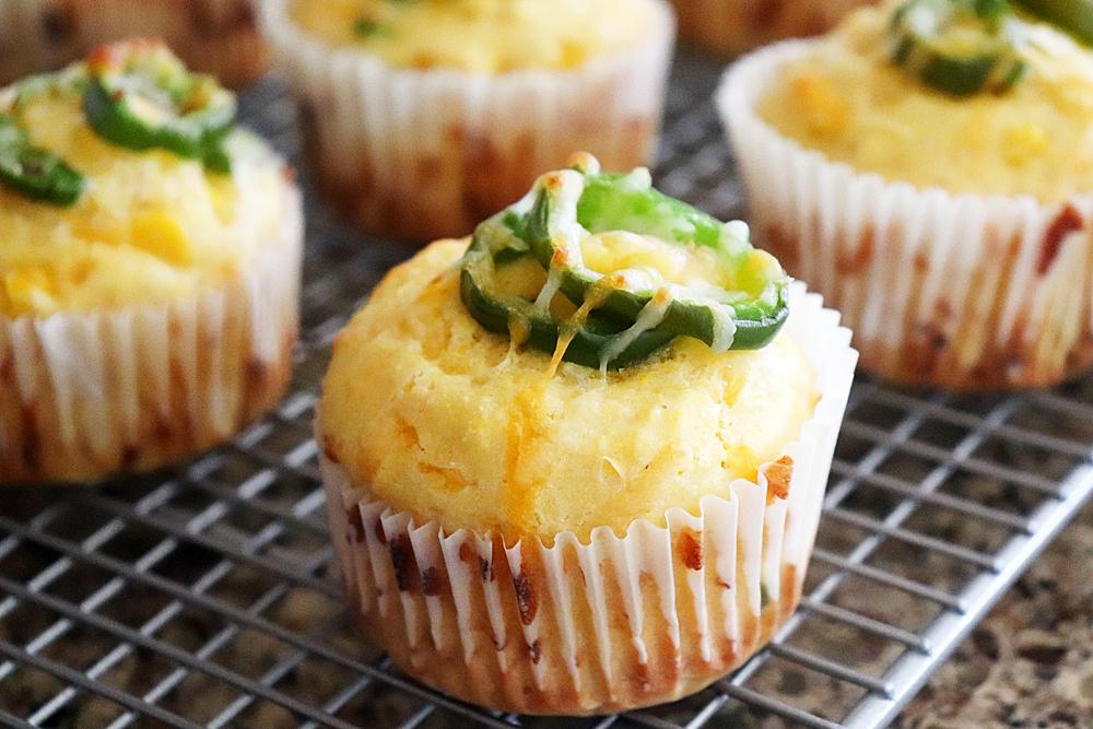 Cheesy Honey Jalapeno Cornbread Muffins HERO