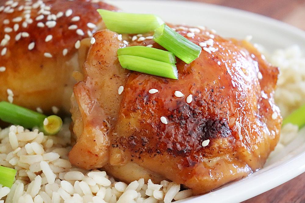 Baked Teriyaki Chicken Recipe Hero Shot