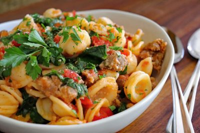 Orecchiette with Sausage and Greens Hero