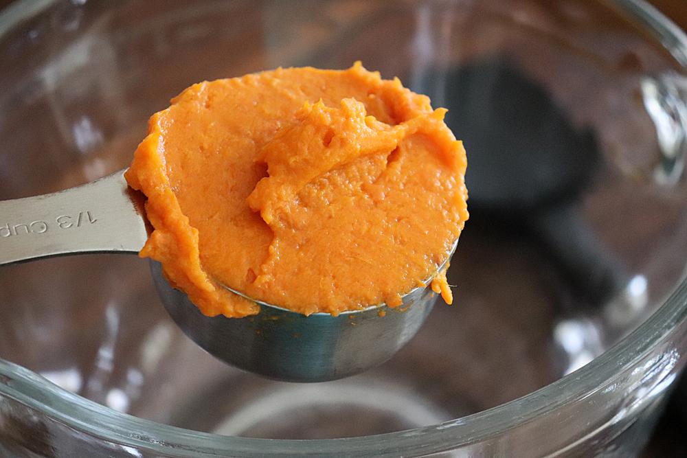 Add mashed sweet potato